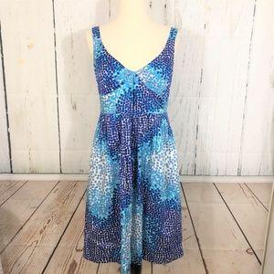 Cynthia Steffe Fit & Flare Blue Sun Dress Size 8
